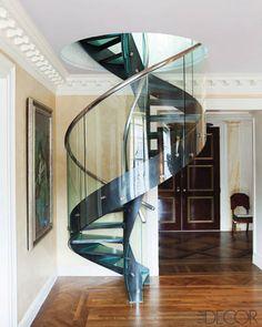 Bunny Williams design of an additional floor for a Park Avenue penthouse. Elle Decor.