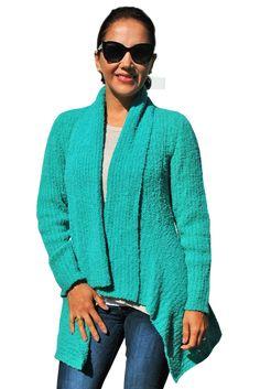 """Heidi"" draping sweater (boucle 100% Fine alpaca)"