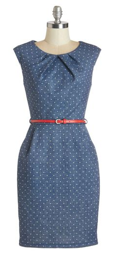 Chambray dot dress - love this for spring