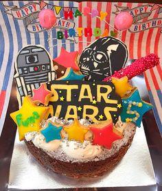 なぎさ's dish photo 息子ちゃん5歳のバースデーケーキ | http://snapdish.co #SnapDish #お誕生日 #おやつ #パーティー
