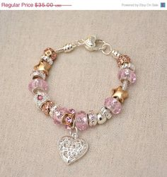 End Of Summer SALE PInk Fashion Pandora Style by CardinalGift, $28.00