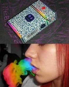 Rainbow cigarette Not that I smoke, but if I did, I'd want to smoke rainbows!