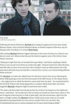 Mark Gatiss talking about what's planned for Season 3. #Sherlock