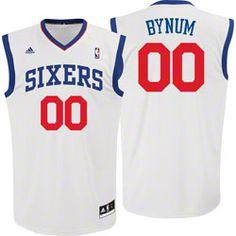 37d0793a8 Andrew Bynum  adidas Revolution 30 White Replica Philadelphia 76ers Jersey   59.99 http