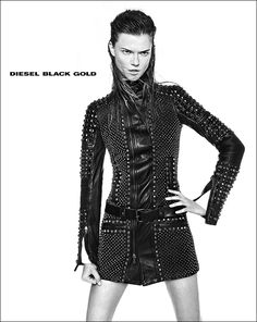 diesel black gold1 Kasia Struss Rocks Diesel Black Golds Fall 2013 Ads by Kevin Sinclair