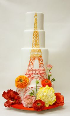 40 Dazzling Wedding Cakes From Lulu Cake Boutique - MODwedding
