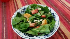 From Nonnie's Kitchen fresh spinach salad.  Great Springtime dish!