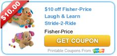 $10 off Fisher-Price Laugh & Learn Stride-2-Ride