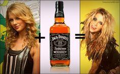 Why does Ke$ha look like Taylor Swift drunk?