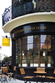 Tomtom Coffee House is a special coffee shop on the corner of Elizabeth Street. Tomtom Coffee House is at 114 Ebury Street, London, ◆ England ◆ United Kingdom Cafe Restaurant, Restaurant Design, Dw Shop, Cafe Shop, Cafe Industrial, Elizabeth Street, Café Bar, Hotels, Shop Fronts