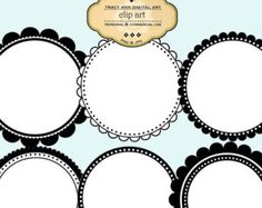 1/2 PRICE Clip Art Labels and Frames commercial use (set 4)