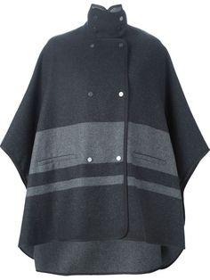 Vince contrasting stripe cape coat