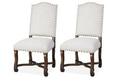 Friend's Auburn Linen Chair, Pair