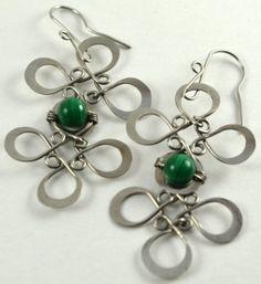 Malachite Earrings by EmetalyDesigns on Etsy, $40.00