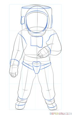How to draw an astronaut | Step by step Drawing tutorials ...