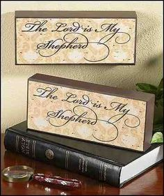 The Lord Is My Shepherd Wood Block Plaque Gift of Faith by Gifts of Faith, http://www.amazon.com/dp/B0073YTXHC/ref=cm_sw_r_pi_dp_16NFpb11VNF47