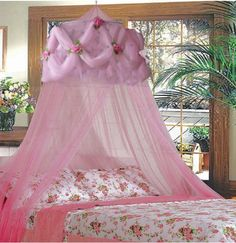Pink Rose Utimate Princess Bed Canopy By SID $24.99 (69% OFF)