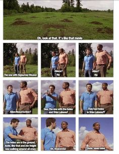 Gus doesn't get the 'Holes' movie reference because Dule Hill (gus) was in that movie as well! Psych Memes, Psych Tv, Psych Quotes, Movie Quotes, Memes Humor, Psych Movie, Funny Quotes, Best Tv Shows, Favorite Tv Shows