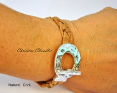 Leather and Sterling Silver Bracelet 3 by ChristineChandler