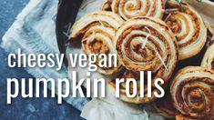 CHEESY VEGAN PUMPKIN ROLLS | hot for food