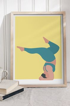 Our forearm stand pose art print comes in 5 different colour ways to suit any home decor and is available from just £13. CLICK THE IMAGE to buy now. FREE UK shipping included as standard. #YogaPoses #YogaArtIllustration #GiftsForYogaLovers #HyggeDecor Beautiful Yoga Poses, Forearm Stand, Design Poster, Yoga Art, Art Prints, Art Impressions