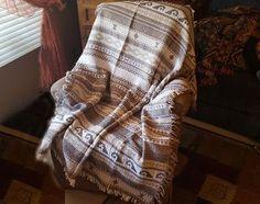 Southwestern Throw Blanket -Zapoteca Beige (st45)