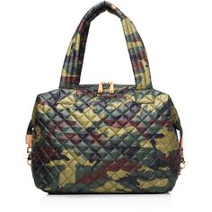 Mz Wallace Large Sutton Satchel (340 CAD) ❤ liked on Polyvore featuring bags, handbags, quilted camo, nylon handbags, quilted satchel, nylon purse, quilted handbags and quilted duffle bag