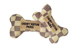 Chewy Vuiton Checker Bone Toy