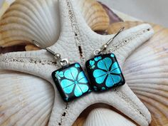 Clover  Dichroic Fused Glass Jewelry  by RyanstonesFusedGlass, $18.00