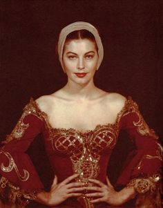 Ava Gardner photographed by Man Ray in her period  costume for 'Pandora and the Flying Dutchman' (1951). Costume designs were by Beatrice Dawson.