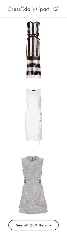 """""""Dress*(daily) [part 12]"""" by janelee8598 ❤ liked on Polyvore featuring dresses, navy, blue sleeveless dress, navy midi dress, striped midi dress, blue midi dress, midi dress, alexander wang, white and sleeveless short dress"""