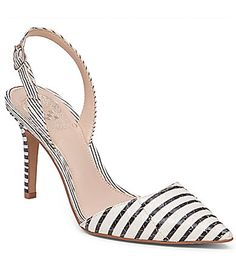 5a1413bf00 Vince Camuto Barlowe Snake-Embossed Pointed-Toe Slingback Pumps | Dillards