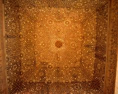 Hall of the Ambassador (Ceiling), Alhambra 1248-1354, Granada, Spain