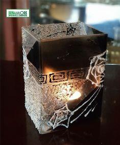 dekorert vase av glass | FINN.no dekorert 14x10x8 cm vase av glass   #росписьстекла #декор #decor #glassdecor #vase #hobby #handmade #molde #norge
