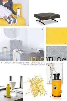 inspiratie moodboard met producten van onze klanten: #Rolf Benz, Dornbracht, Corkcicle, IT&M, Graham & Brown