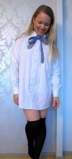 Oversize blouse from upcycled men's button up. Instructions on the blog.
