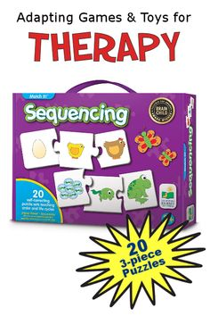 Sequencing by The Learning Journey contains 20 three-piece sequencing puzzles. Sequencing puzzles can help children learn the order of t. Therapy Games, Speech Therapy, Occupational Therapist, Help Kids, Activities To Do, Life Cycles, Aba, Speech And Language, Social Skills