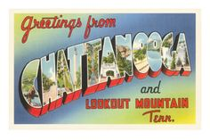 Chattanooga TN Greetings from Chattanooga and Lookout Mountain Chattanooga is known as the scenic and historic center of the South. The city is surrounded by beautiful mountains and battlefields. Points of interest are Lookout Mountain, Signal Photo Postcards, Vintage Postcards, Arkansas, Mississippi, Lookout Mountain Tennessee, Georgia, Tennessee Waltz, Chattanooga Tennessee, Large Letters
