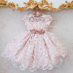 Baby Girl Party Dresses, Little Dresses, Little Girl Dresses, Girls Dresses, Flower Girl Dresses, Frocks For Girls, Kids Frocks, Little Girl Fashion, Kids Fashion