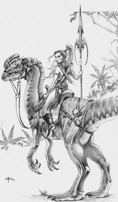 ☆ Dinosaur Rider :¦: By Artist Nathan Rosario ☆