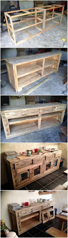 Furthermore in so many creative ideas of old wooden pallets we would perfectly be making you learn about the simple creation of the old wooden pallet cabinet or hutch as. Pallet Crafts, Diy Pallet Projects, Pallet Ideas, Wood Crafts, Wood Projects, Diy Crafts, Pallet Furniture, Furniture Projects, Painting Furniture