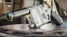 Bill Doran walks us through the painting process of his Rey Blaster prop from Star Wars: The Force Awakens.