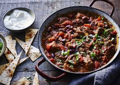 Use beef shin for more flavour in this delicious slow cooker chilli. Add more chilli flakes if you want to up the spice factor
