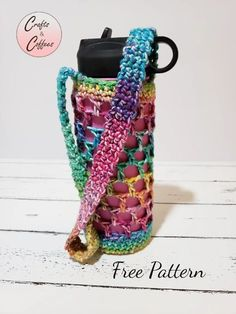 Crochet Cozy, Quick Crochet, Cotton Crochet, Crochet Gifts, Crochet Yarn, Free Crochet, Coffee Blog, Coffee Cup, Quick Crafts