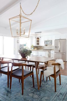 Mid century modern dining room: http://www.stylemepretty.com/living/2017/02/01/tour-a-mid-century-modern-renovation/ Photography: Amy Bartlam - http://www.amybartlam.com/