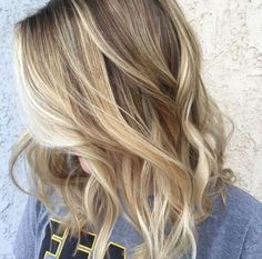 Gorgeous Mixed Blonde toned Highlights Mixed with Natural Mid Tones All Against a Darker Neutral Base Blonde - Babylights - Highlights - Lowlights - Balayage ... All seamlessly layered for a warmer toned beachy natural look. by june