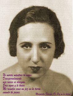 """Margarita Ferreras, poeta relacionada con la Generación del 27, escribió en 1932 """"Pez en la tierra"""", poemario que le editaron Manuel Altolaguirre y Concha Méndez."""