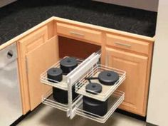 Kitchen Cabinet Corner Storage Ideas I would love husband to make up something similar to this for our house, where we have a very deep corner cabinet area that we can't get to.