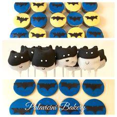 Para los amantes de Batman, Cupcakes, galletas y cakepops!