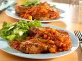 Zesty pork chops made with left over salsa